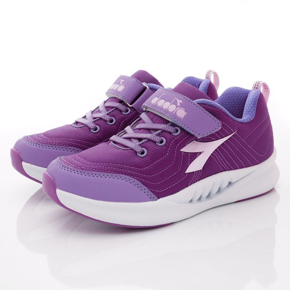 義大利 DIADORA - 春夏新品義式競速運動簡約鞋款(大童段)-紫