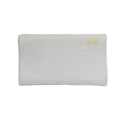有機棉兒童護頸乳膠枕-經典條紋系列-寧靜灰 (50x30x9cm)-6個月起