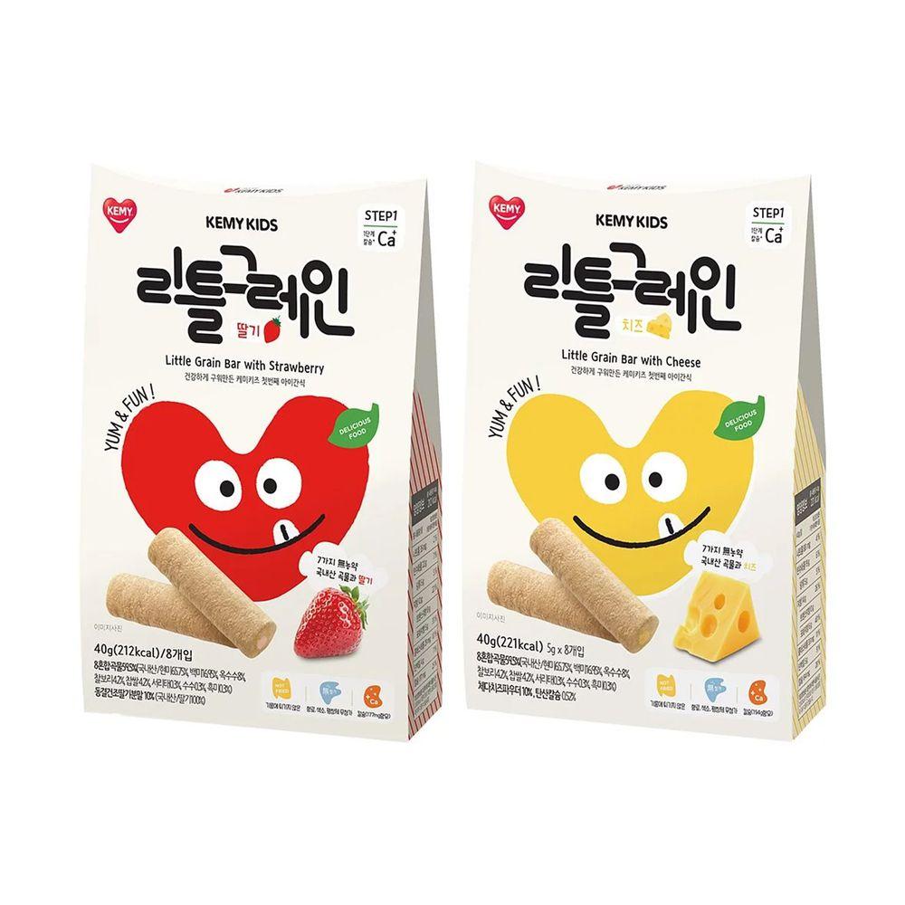 KEMY KIDS - 貪吃凱米 穀物小捲心兩入組-草莓+起司