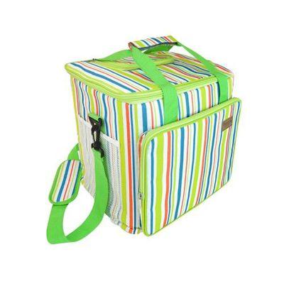 時尚大容量防水保溫野餐袋 24L-彩虹綠