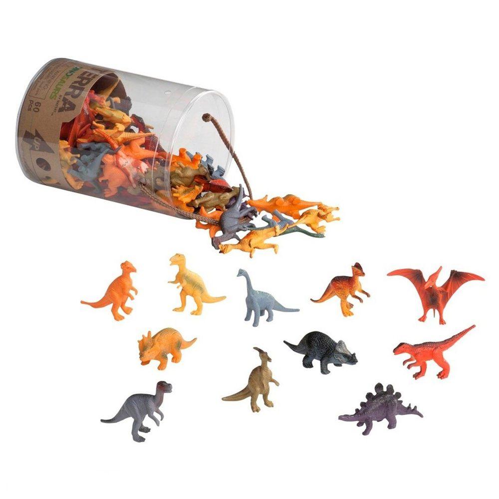 B.TOYS - TERRA 恐龍-60PCS(共12種動物,每種各5隻)