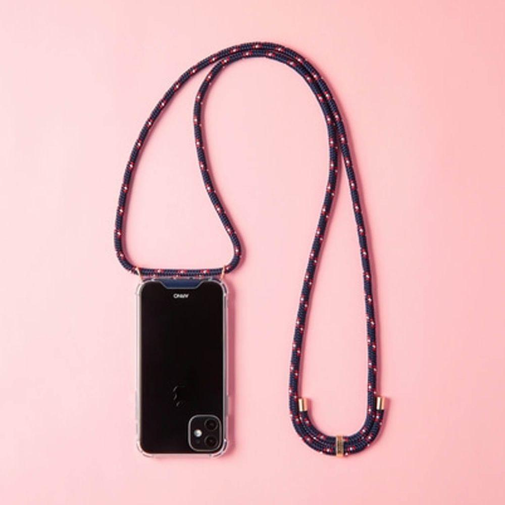 韓國 ARNO - 編繩背帶透明手機殼-夜空藍