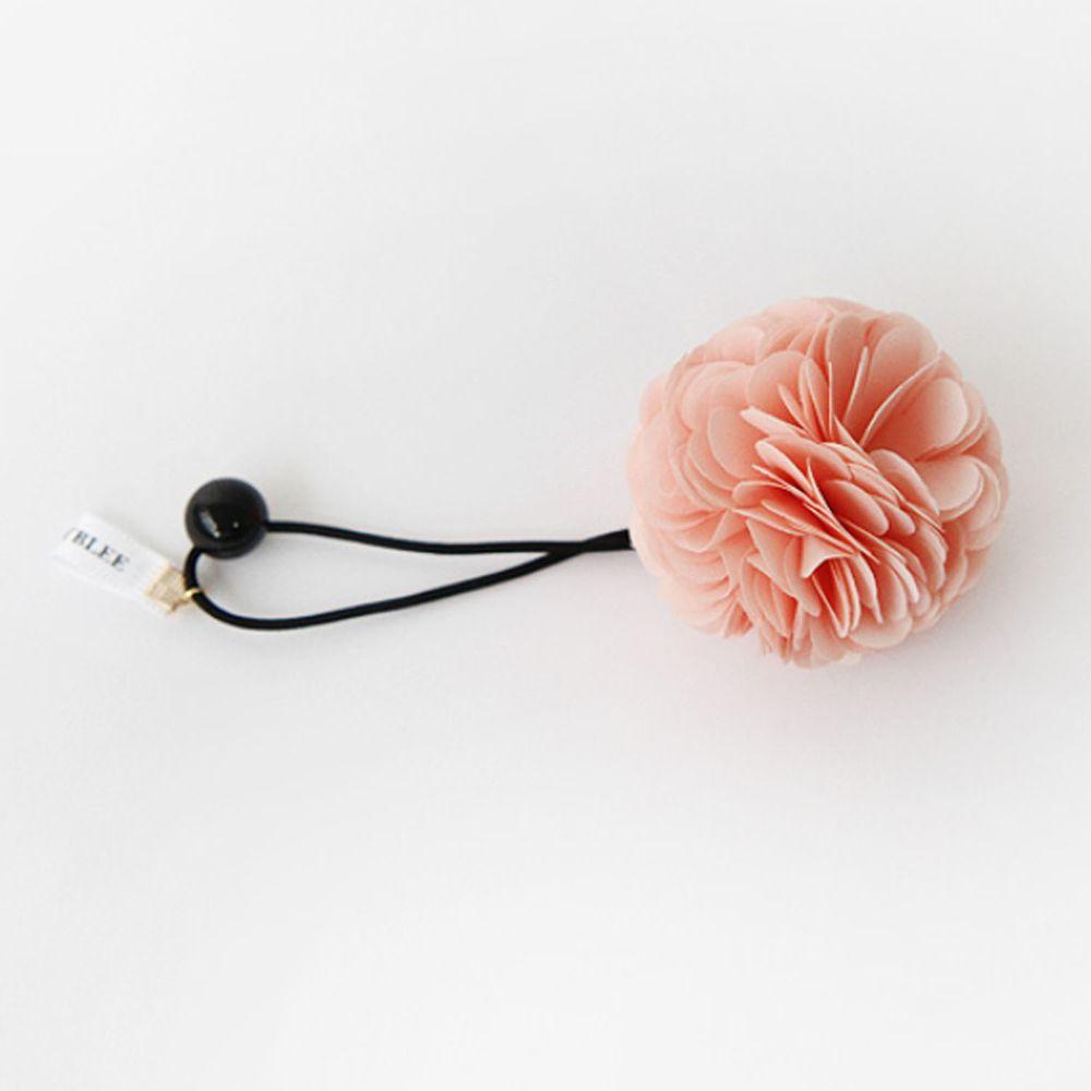 韓國 Babyblee - 球球花髮圈-嫩粉紅