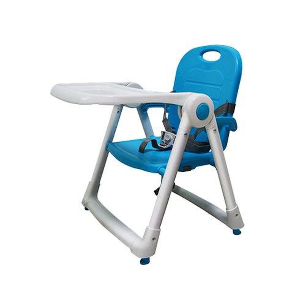 美國 ZOE - 可攜式折疊兒童餐椅-湖水藍