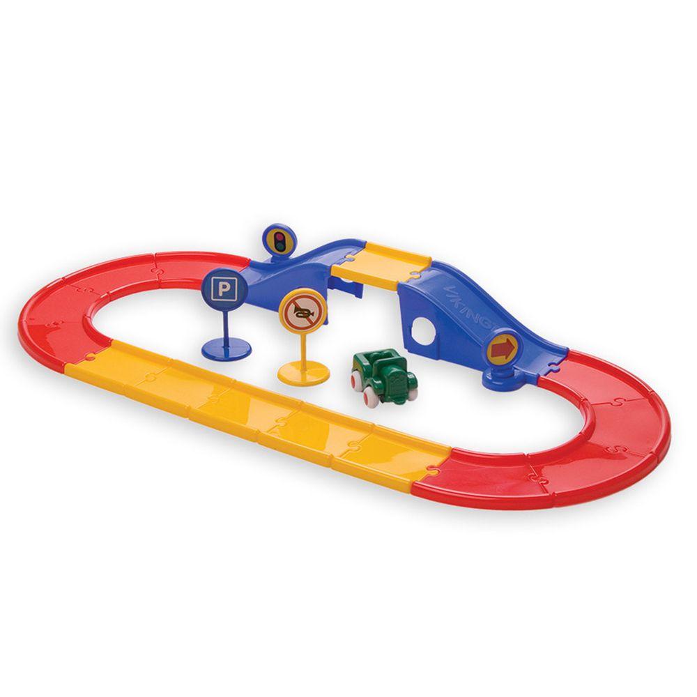 瑞典Viking toys - 【新品】城市交通軌道組(含一台車車)