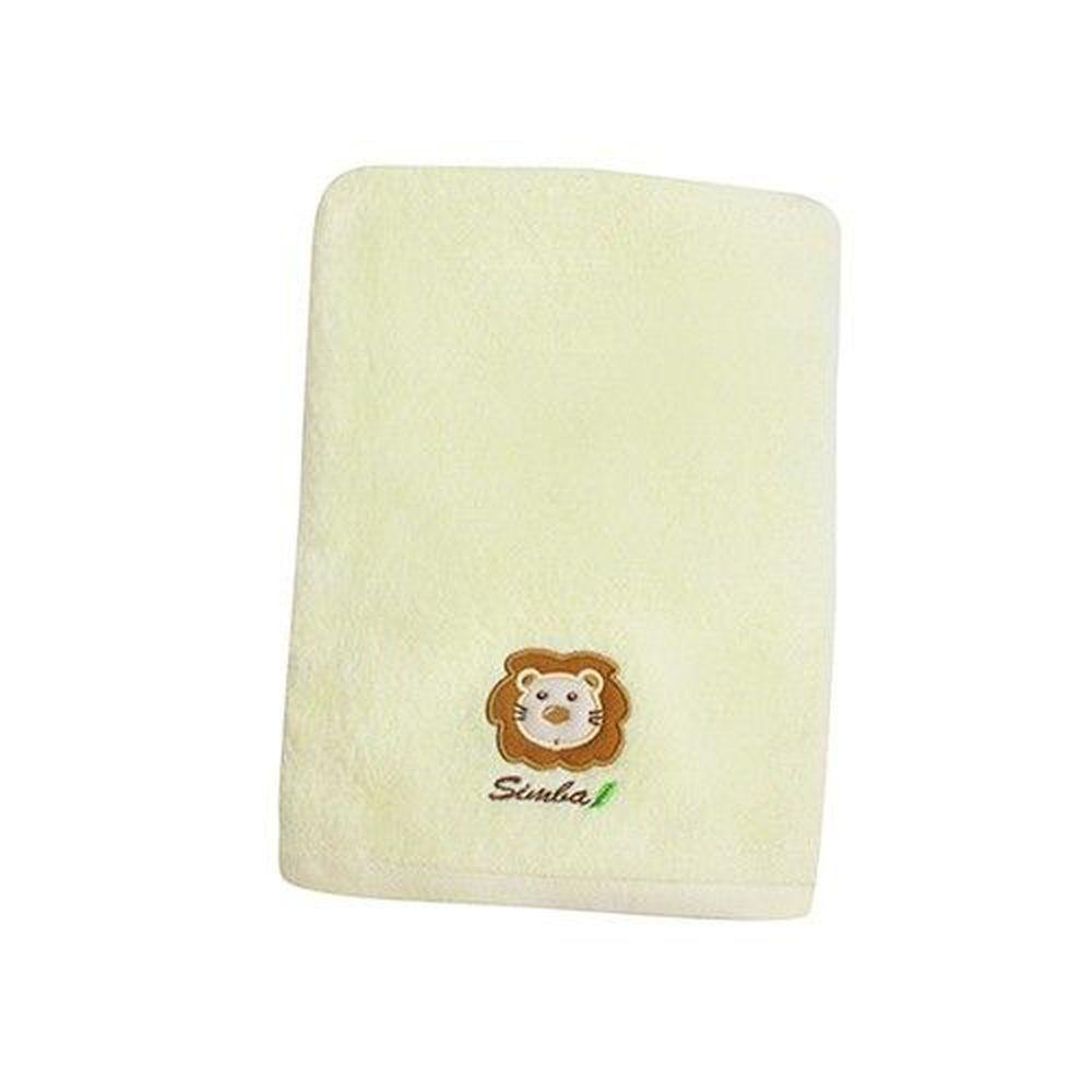 Simba 小獅王辛巴 - 和風高級嬰兒快乾浴巾-粉嫩黃-約70x135cm