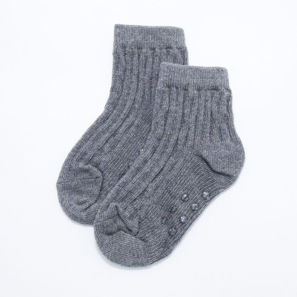 akachan honpo - 襪子-灰色麻花-銀灰色