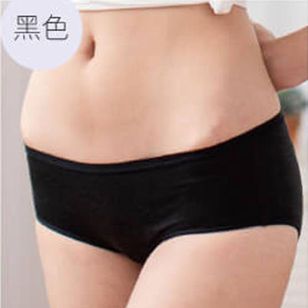 貝柔 Peilou - 天絲棉舒膚平衡女三角內褲-低腰-黑色