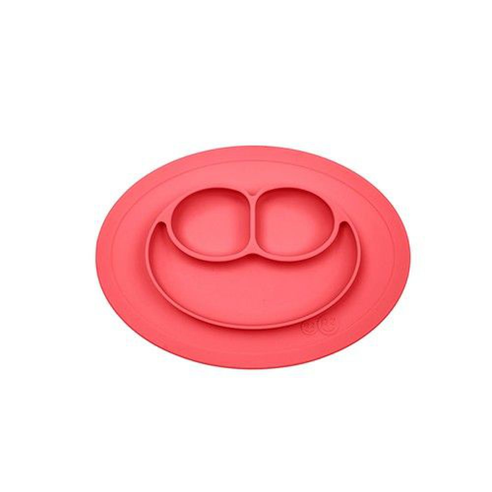 美國 ezpz - 快樂餐盤 Happy Mini Mat-迷你餐盤-珊瑚紅 (27.3cm*19.7cm*2.54)-240ml