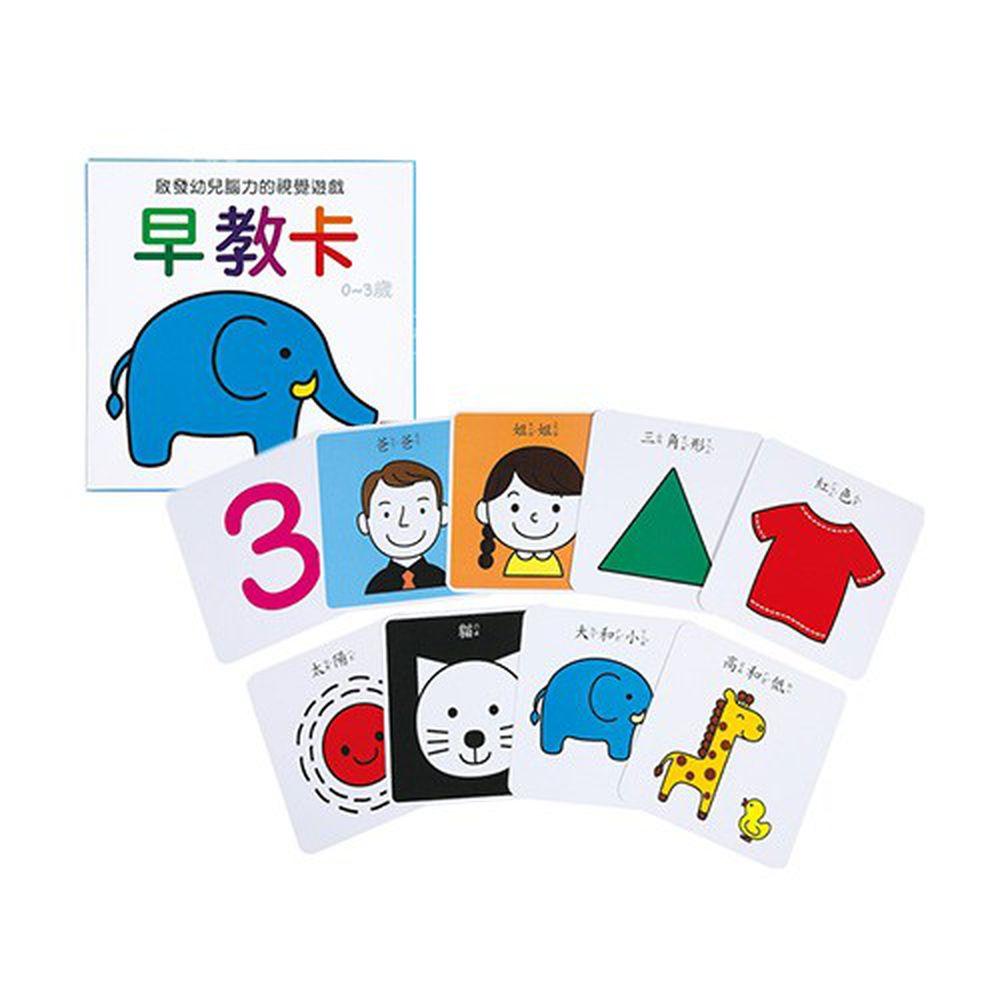 啟發幼兒腦力的視覺遊戲-早教卡