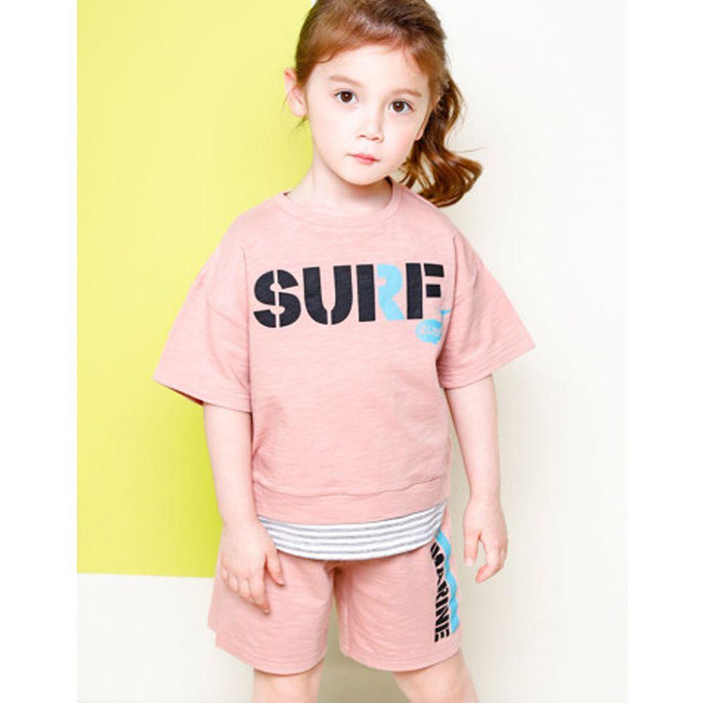 韓國 Jelispoon - SURF純棉套裝-粉紅