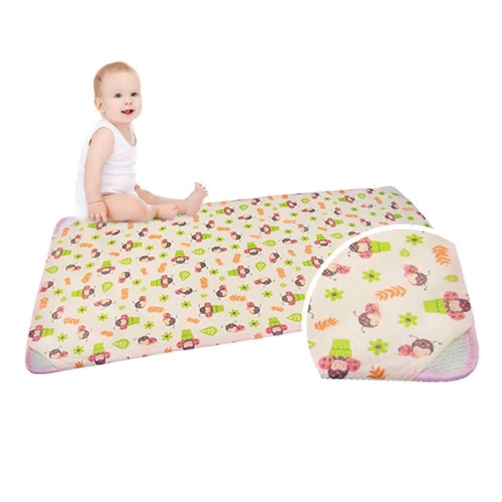 韓國 GIO Pillow - 智慧二合一有機棉超透氣排汗嬰兒床墊-淘氣瓢蟲 (XM號)