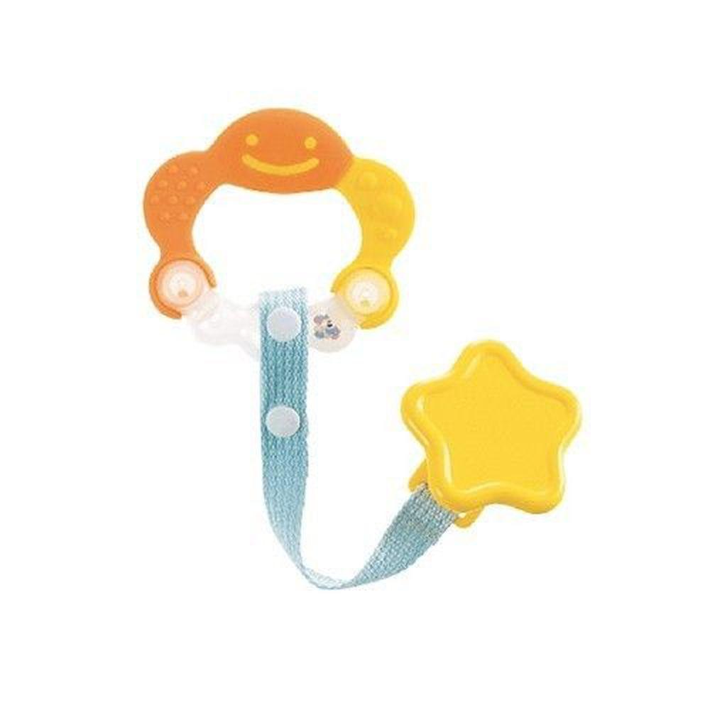日本 Richell 利其爾 - 固齒器-附固定夾-橘黃色