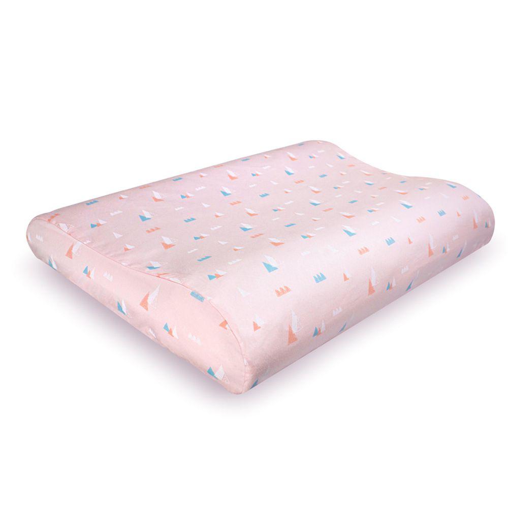日本 Combi - Air Pro 水洗空氣枕-幼童枕-粉 (27x40x4~6cm)-6個月起