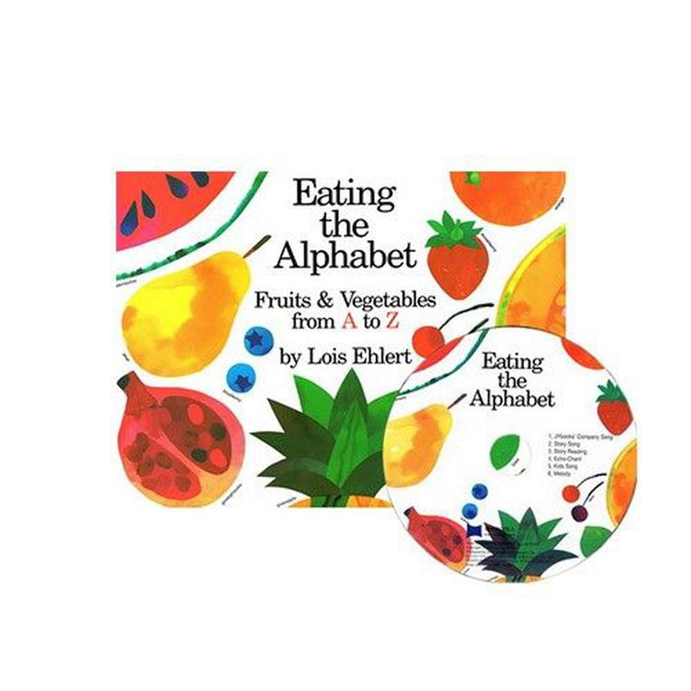 麥克兒童外文書店 - 有聲書-EATING ALPHABET/BK+CD