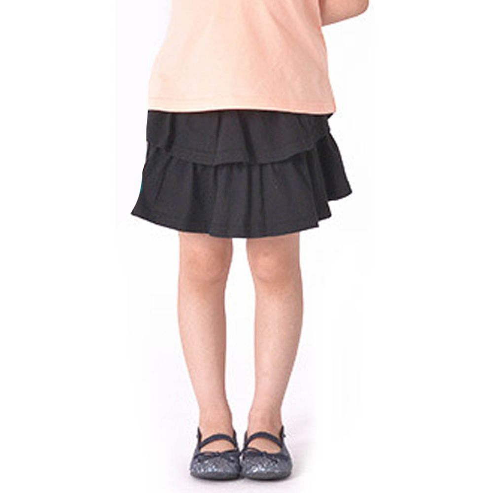 日本 TORIDORY - 百搭蛋糕安全褲裙-黑