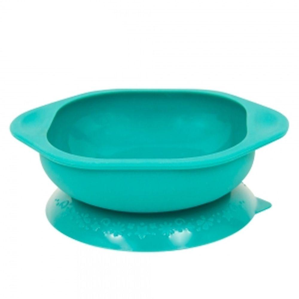 MARCUS&MARCUS - 動物樂園矽膠防漏幼兒學習吸盤碗-綠大象