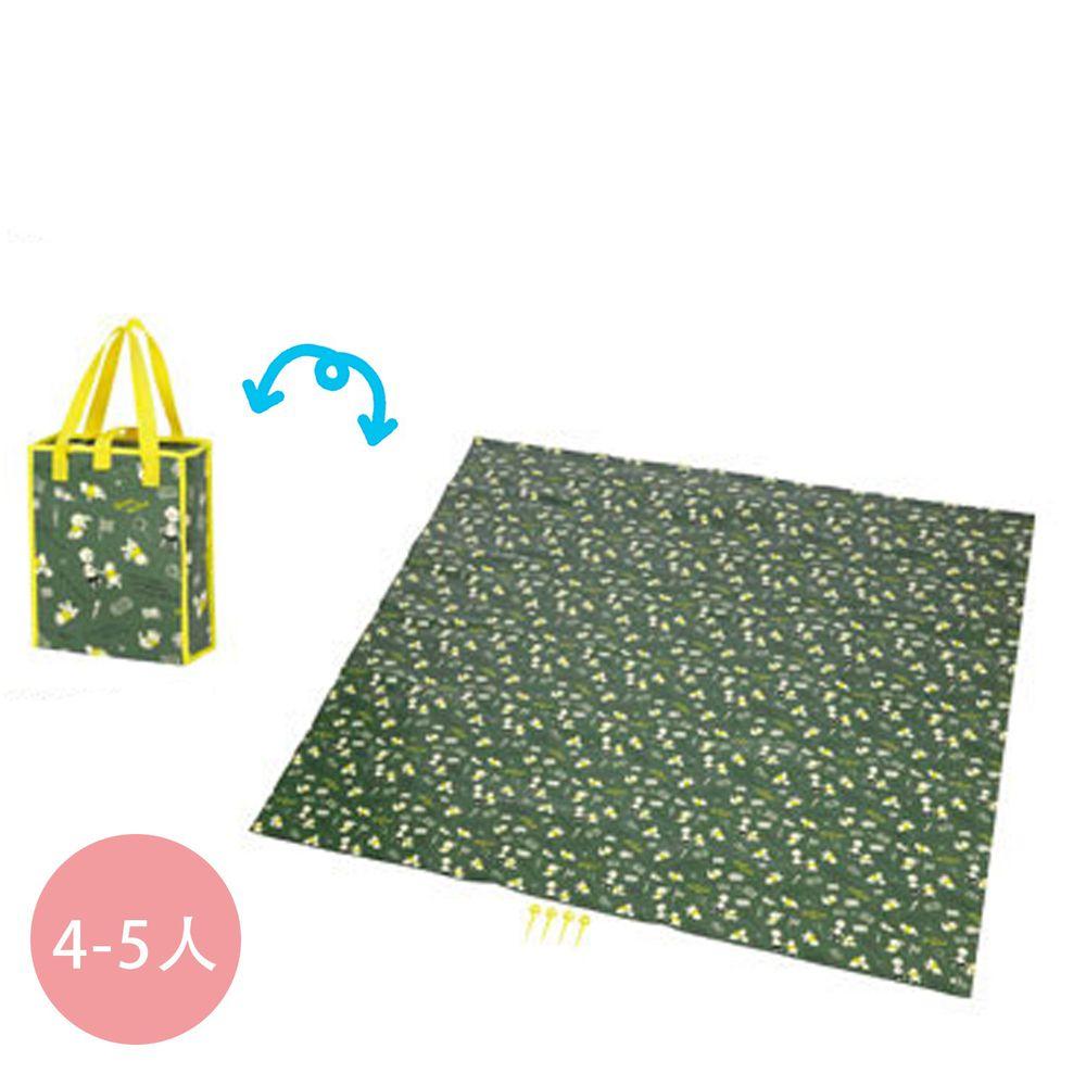 日本 Pearl 金屬 - 迪士尼防水野餐墊(附收納袋)(4-5人)-維尼-綠X黃 (180x180cm)