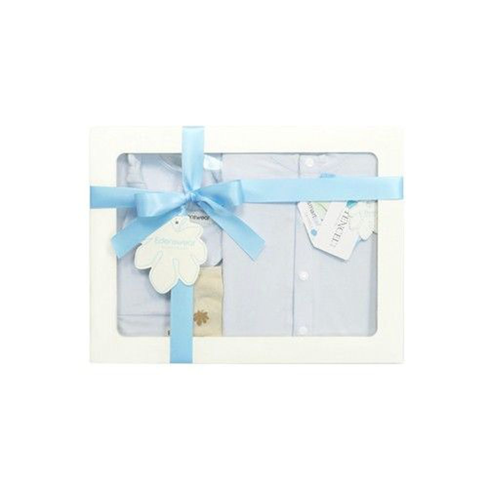 Edenswear 伊登詩 - 鋅纖維抗敏衣系列-寵愛彌月禮盒-淺藍-五件組
