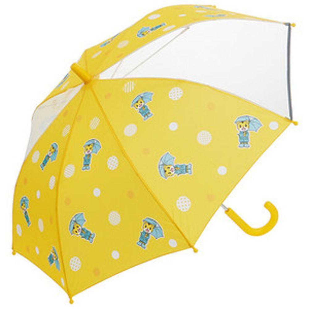 日本 SKATER 代購 - 兒童雙片透明直傘(附安全反光貼條)-巧虎 (50cm(身高:115-125cm))