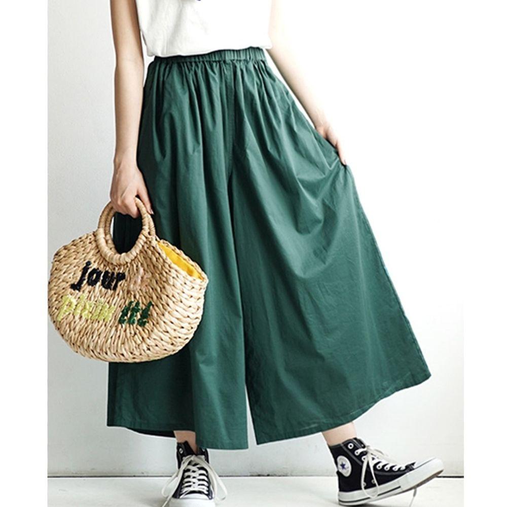 日本 zootie - 100%印度棉舒適寬褲-青春綠 (Free)