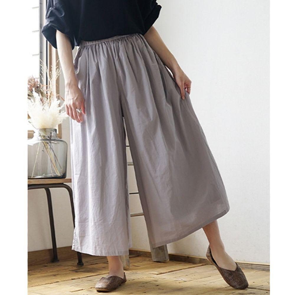 日本 zootie - 100%印度棉舒適寬褲-氣質灰 (Free)