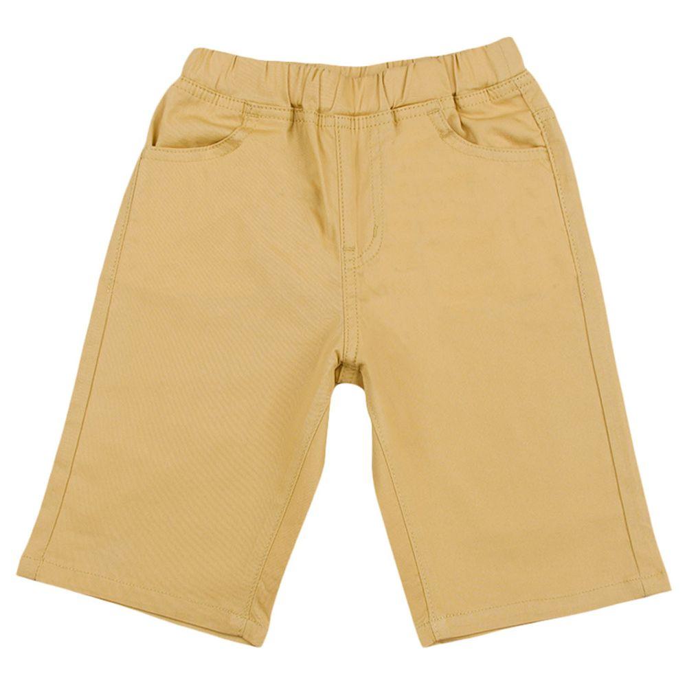akachan honpo - 6分斜紋布短褲-淺卡其色