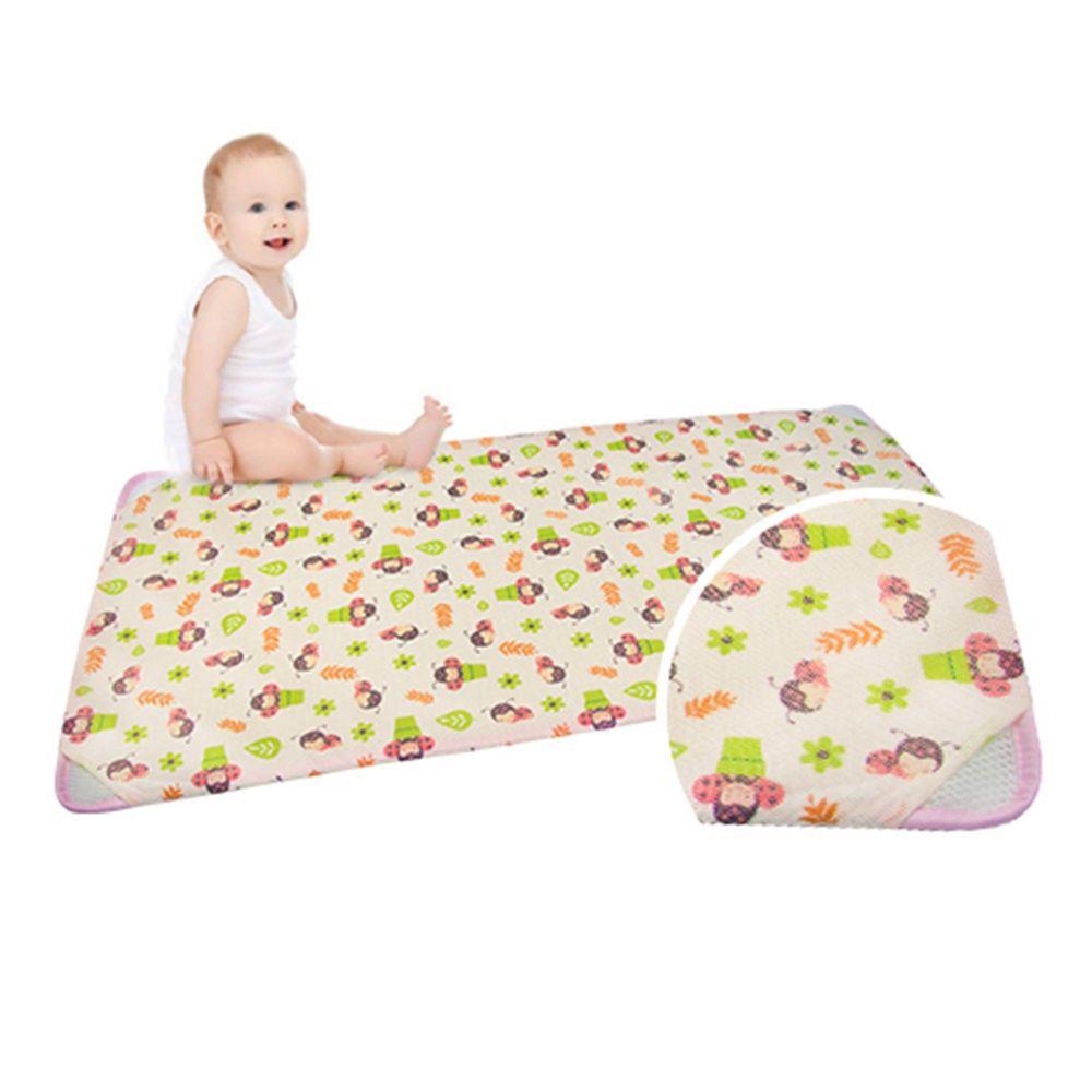 韓國 GIO Pillow - 智慧二合一有機棉超透氣排汗嬰兒床墊-淘氣瓢蟲 (M號)