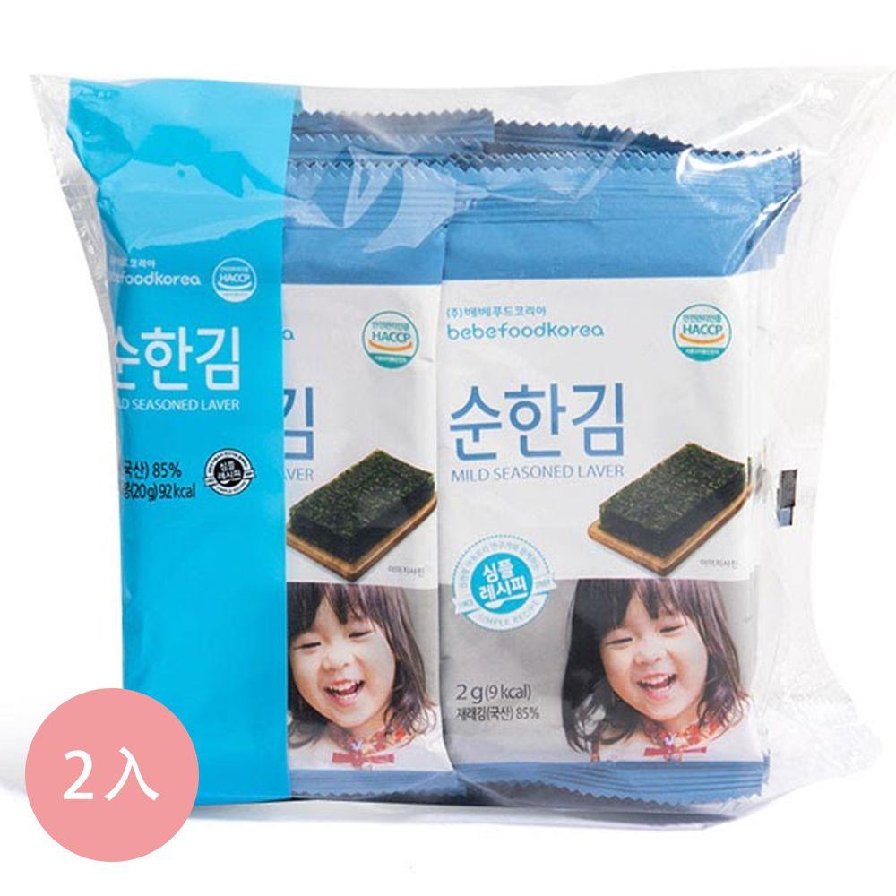韓國bebefood寶寶福德 - 低鈉海苔2入組(10包/組)