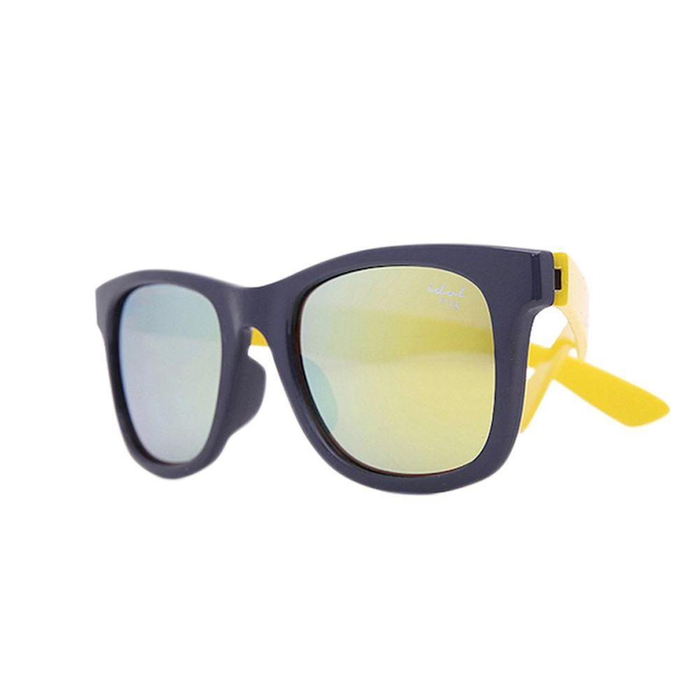 Idol EYES - 兒童太陽眼鏡-個性時尚系列Fashion-深灰色+黃色 (5-10歲兒童款)