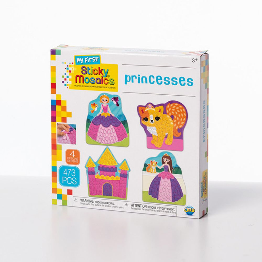 加拿大 Sticky Mosaics - 馬賽克拼貼-公主世界-473 pcs