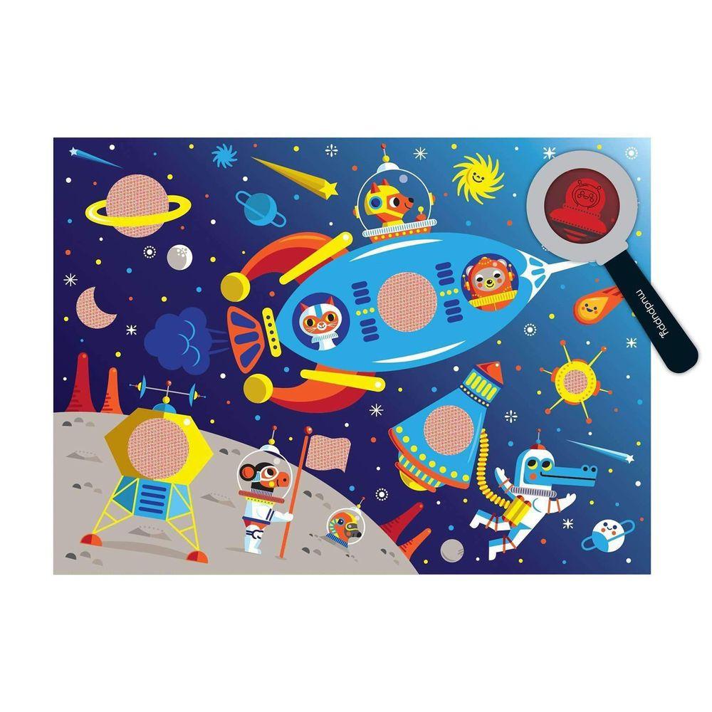 美國 mudpuppy - 美國 mudpuppy-隱藏拼圖-外太空-42片-外太空-團購專案