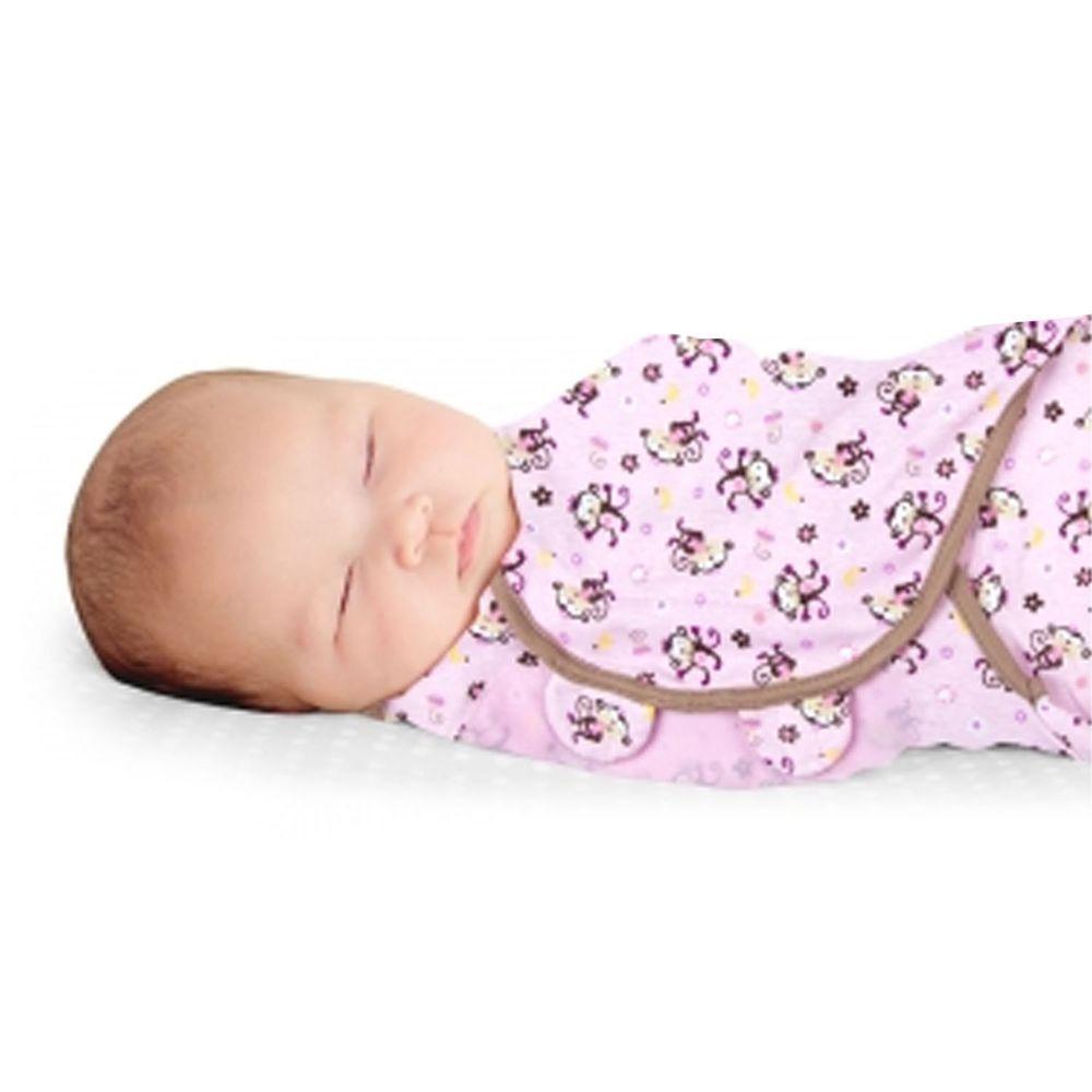 Summer Infant - 聰明懶人育兒包巾-親親小猴-適用年齡:0~3個月