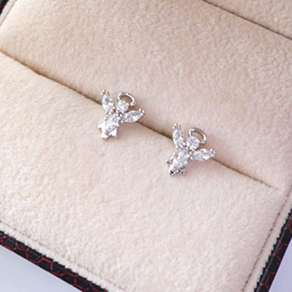 韓國製 - (925純銀)<愛的迫降>孫藝珍同款耳環-天使之星-銀
