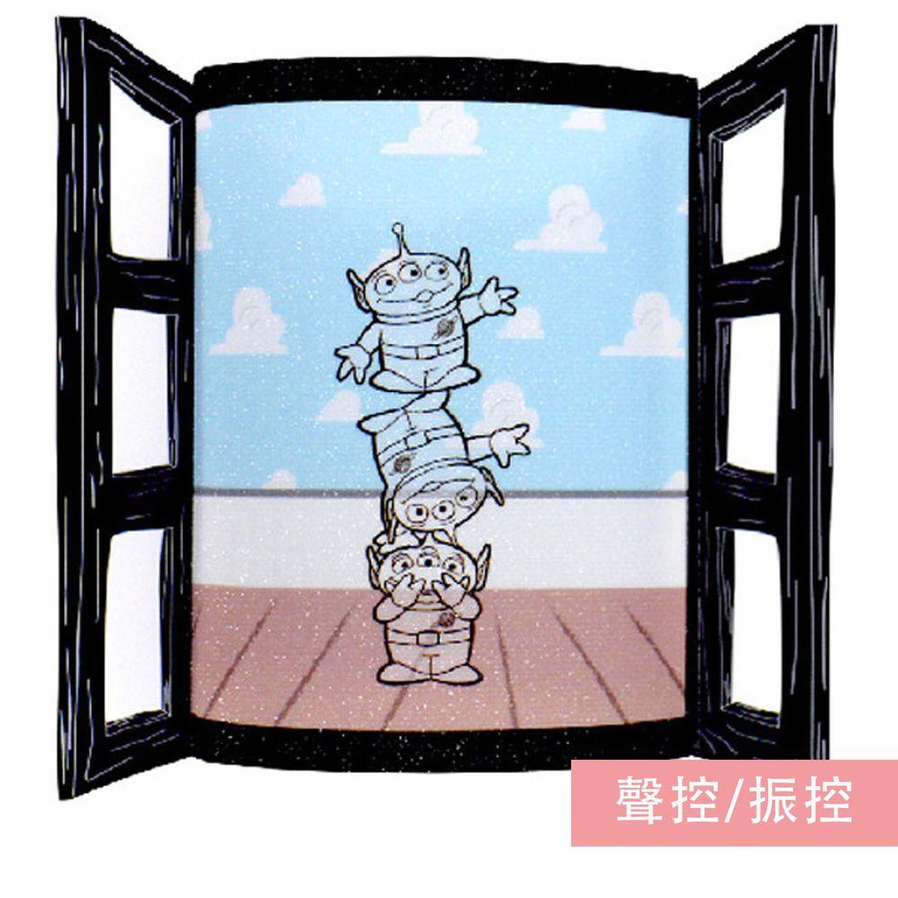 日本 TOYO CASE - LED 感應夜燈壁飾-迪士尼窗戶系列-三眼怪 (約8x3x11cm)