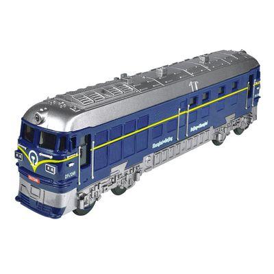 小小鐵道迷-磨輪聲光復古小火車-藍色