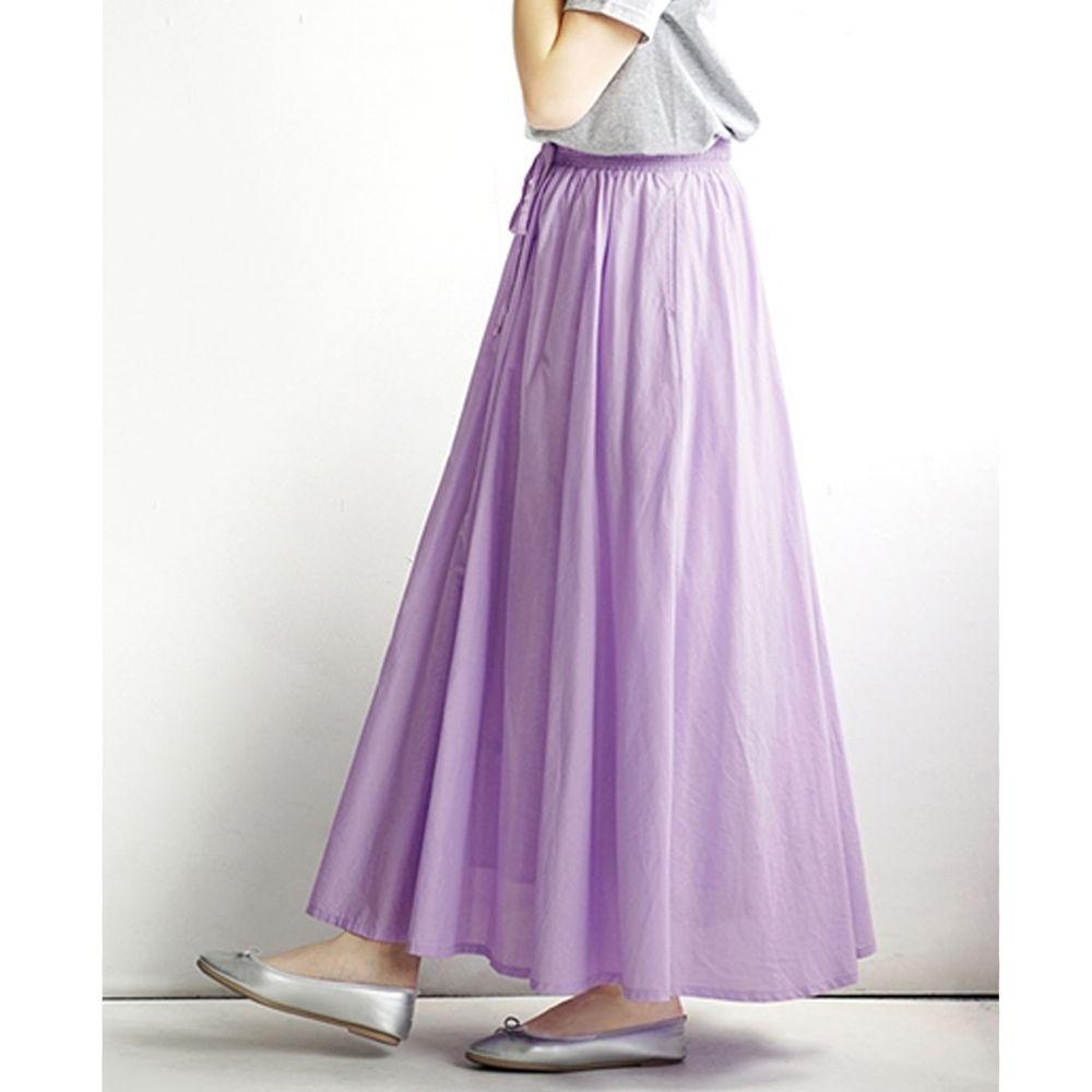 日本 zootie - 100%印度棉舒適傘狀長裙-薰衣草 (Free)