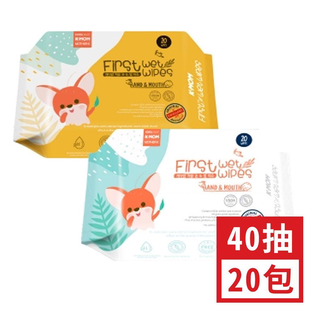 Mother-k - 自然純淨嬰幼兒濕紙巾-抗菌清潔款 40抽 (約 21x12x4cm)-40抽20包組