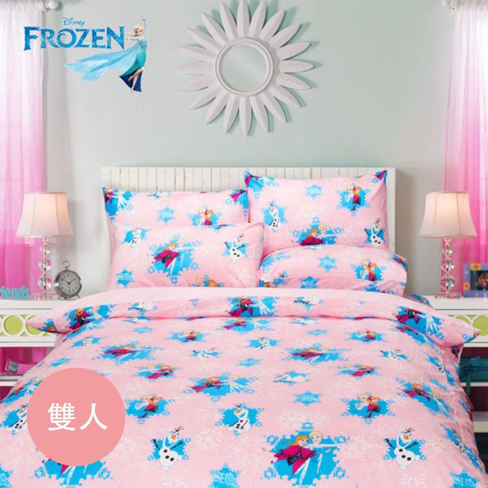 伊尚厚 YSH - 冰雪奇緣 夢幻魔法 粉 床包冬夏兩用被-雙人四件組-5x6.2尺