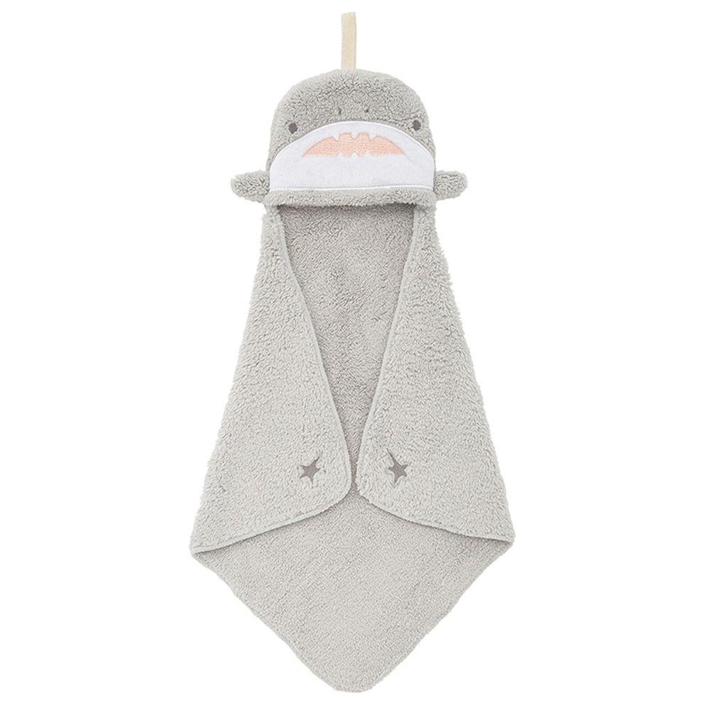 日本 LIV HEART - 5倍吸水力蓬鬆柔軟 擦手巾-鯊魚-灰 (30x30cm)