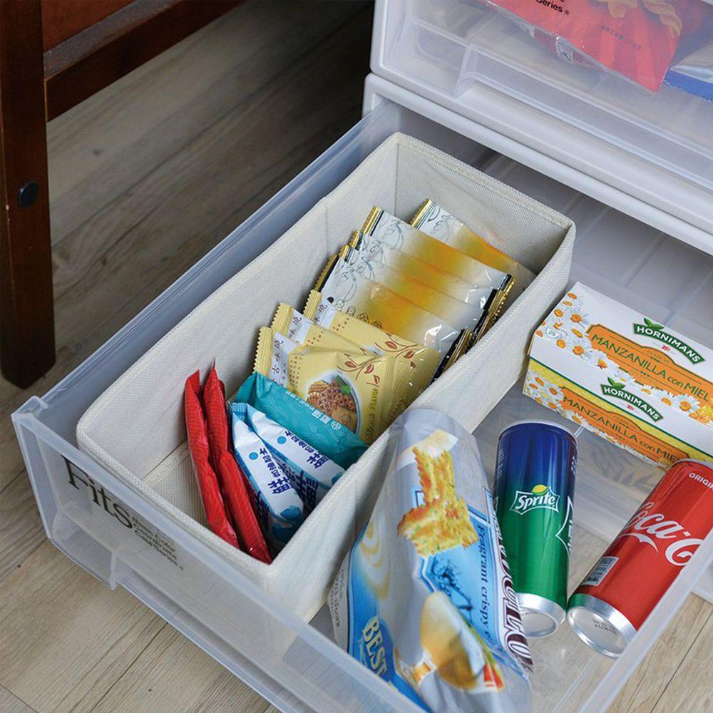 日本天馬 - 抽屜用單格分類收納布盒-面寬15cm-2入