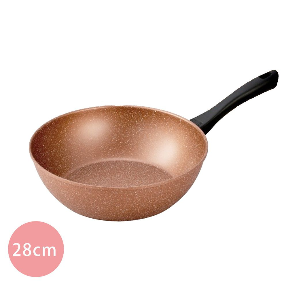 日本北陸 hokua - 極輕古銅金不沾炒鍋-28cm