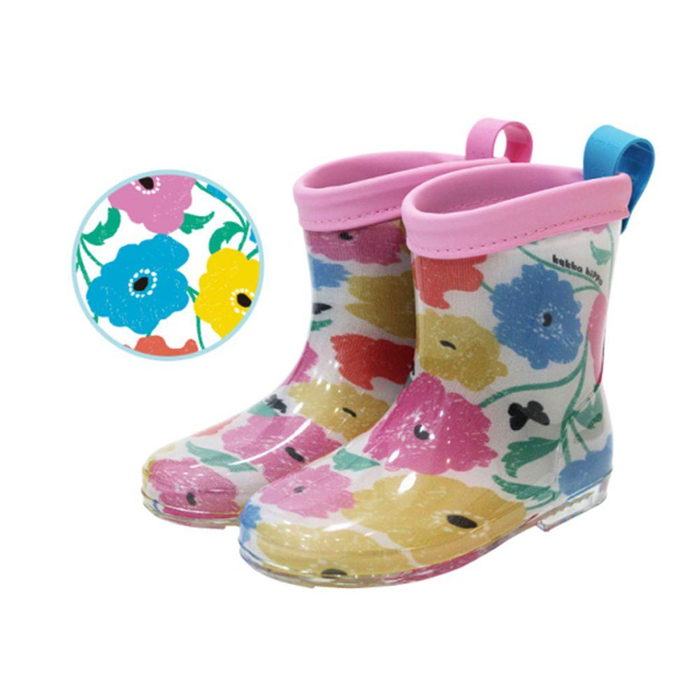 日本 kukka hippo - 小童雨鞋-繽紛花園
