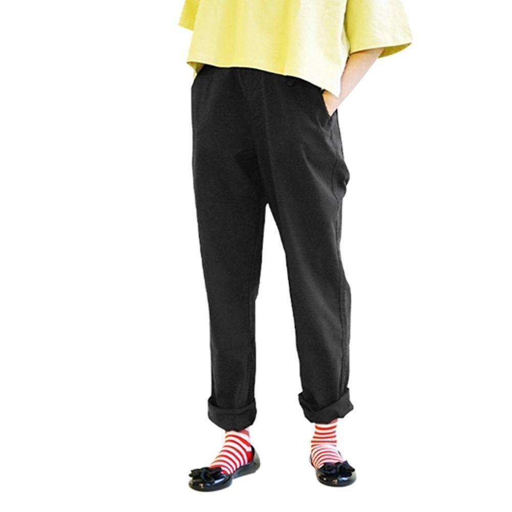 日本 zootie - (剩M/LL) Air Pants 輕薄彈性男友風寬鬆長褲-黑