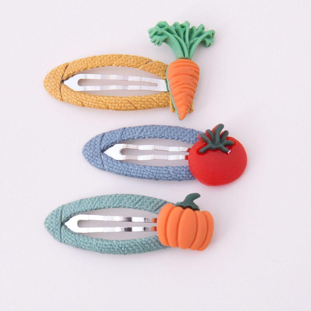 蔬果BB夾髮夾3入組-紅蘿蔔/南瓜/番茄