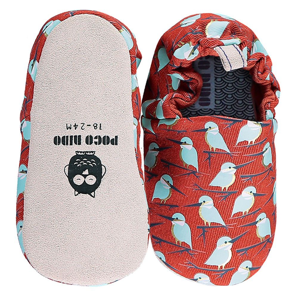 英國 Poconido - 寶寶手工鞋/學步鞋-紅褐翡翠鳥
