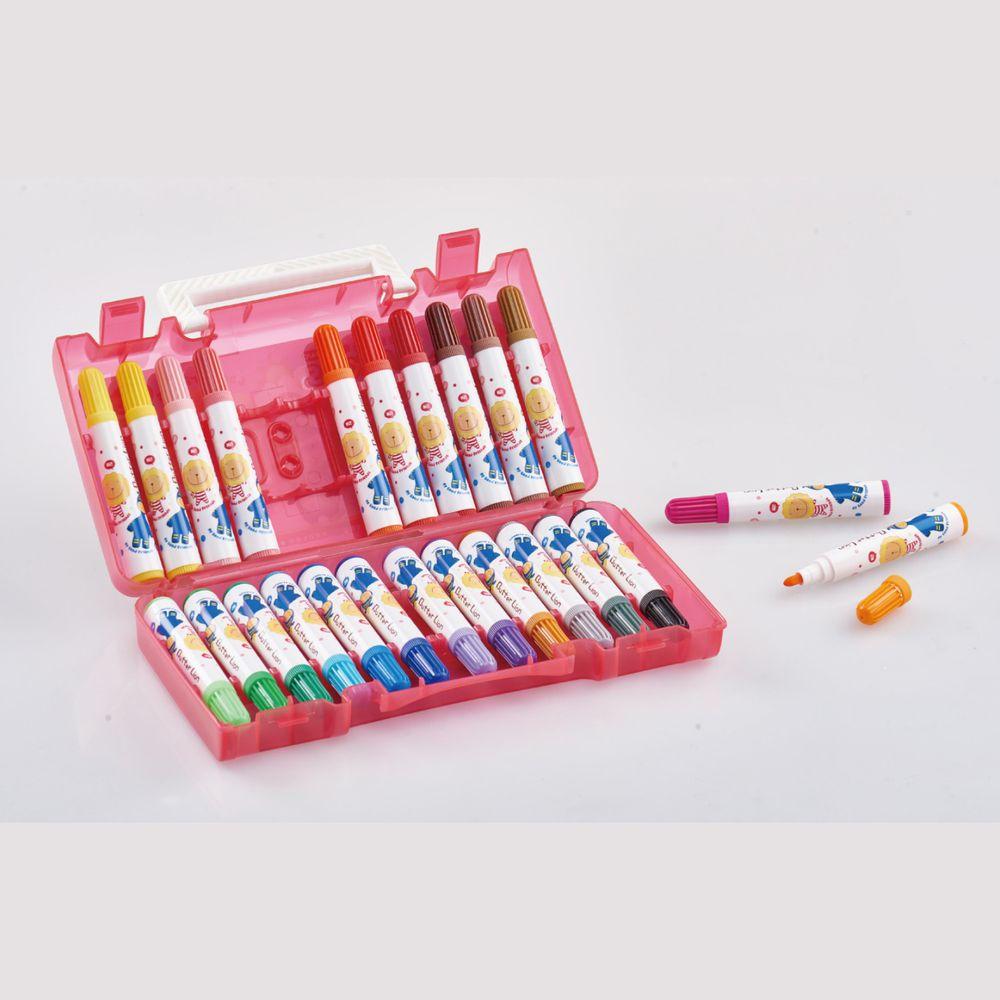 雄獅 SIMBALION - 奶油獅彩色筆-24色-(外盒顏色隨機)