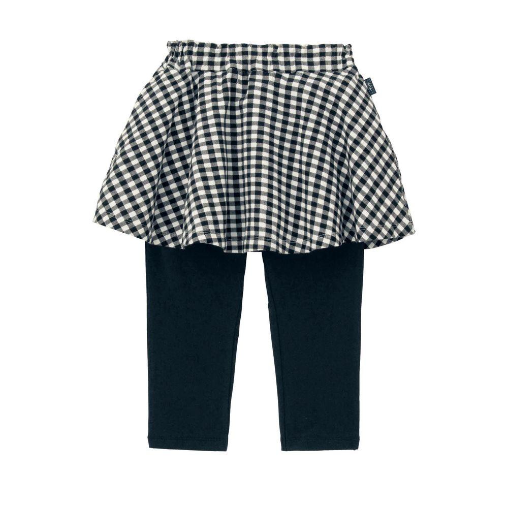 日本千趣會 - GITA 七分丈內搭褲裙-黑白格子
