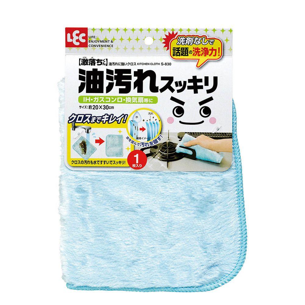 日本 LEC - 激落廚房強力去油抹布-1入