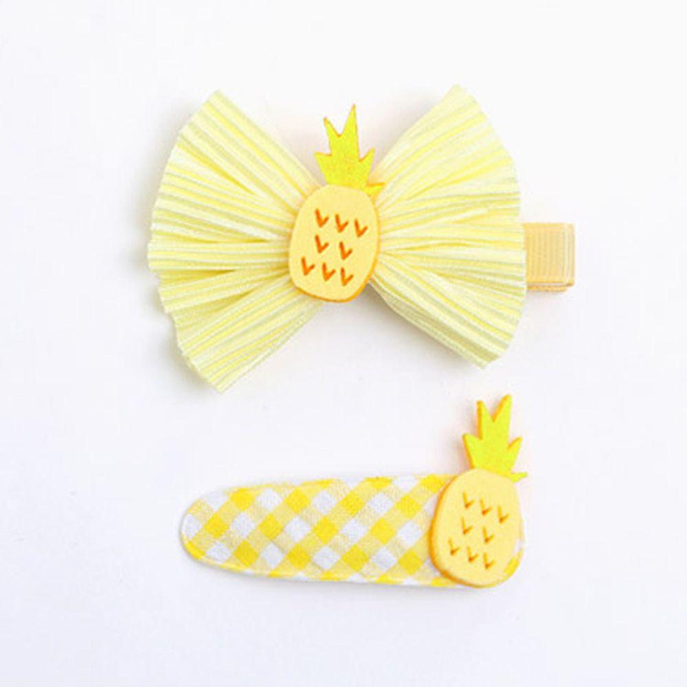 韓國 OZKIZ - 鳳梨髮夾/髮飾2入Set